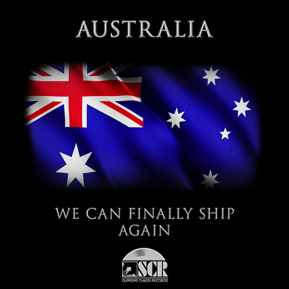 Wir versenden nach Australien