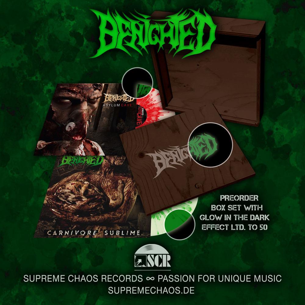 Benighted Asylum Cave und Carnivore Sublime Box Preorder