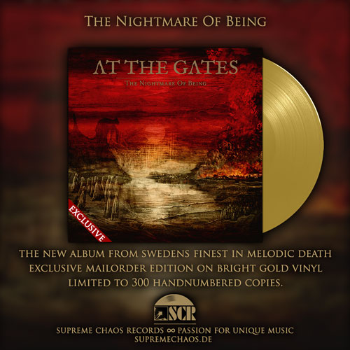 At The Gates - The Nightmare Of Being exclusive golden vinyl