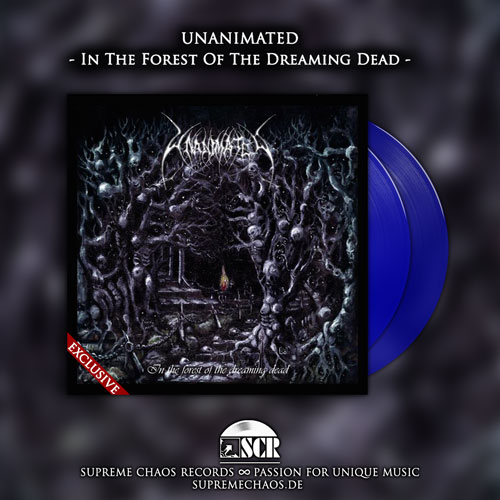 UNANIMATED - In The Forest Of The Dreaming Dead exklusives blaues Vinyl