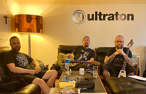 Nocte Obducta recording at Ultraton studios