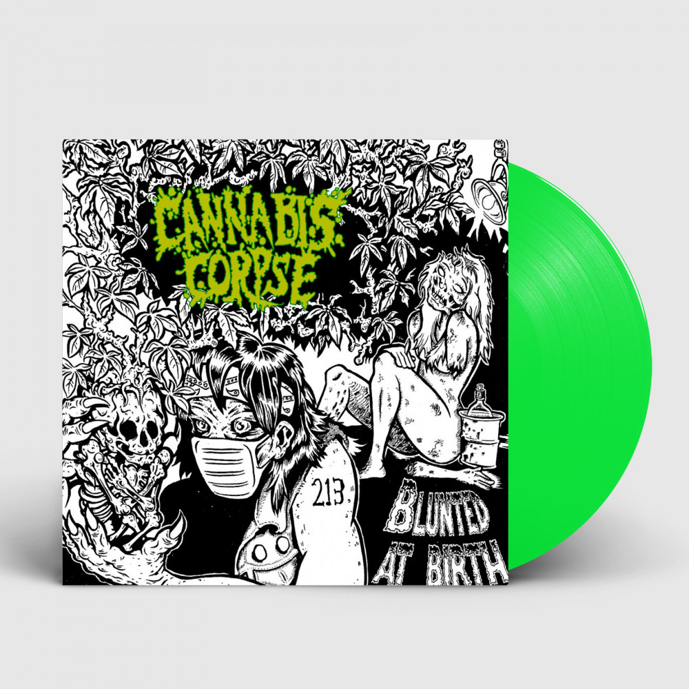 CANNABIS CORPSE - Blunted At Birth [NEON GREEN] (LP)