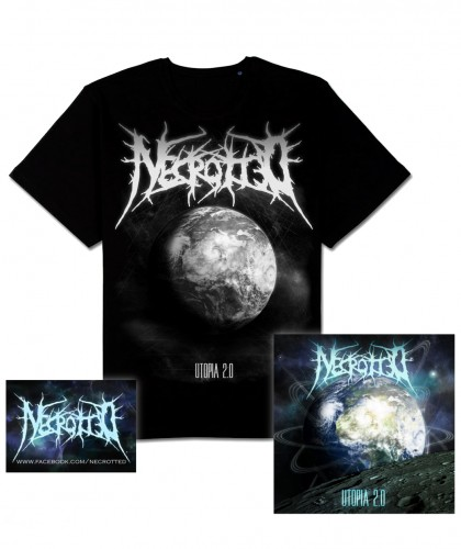 NECROTTED - Utopia 2.0 [CD+Shirt+Sticker BUNDLE] (CD)