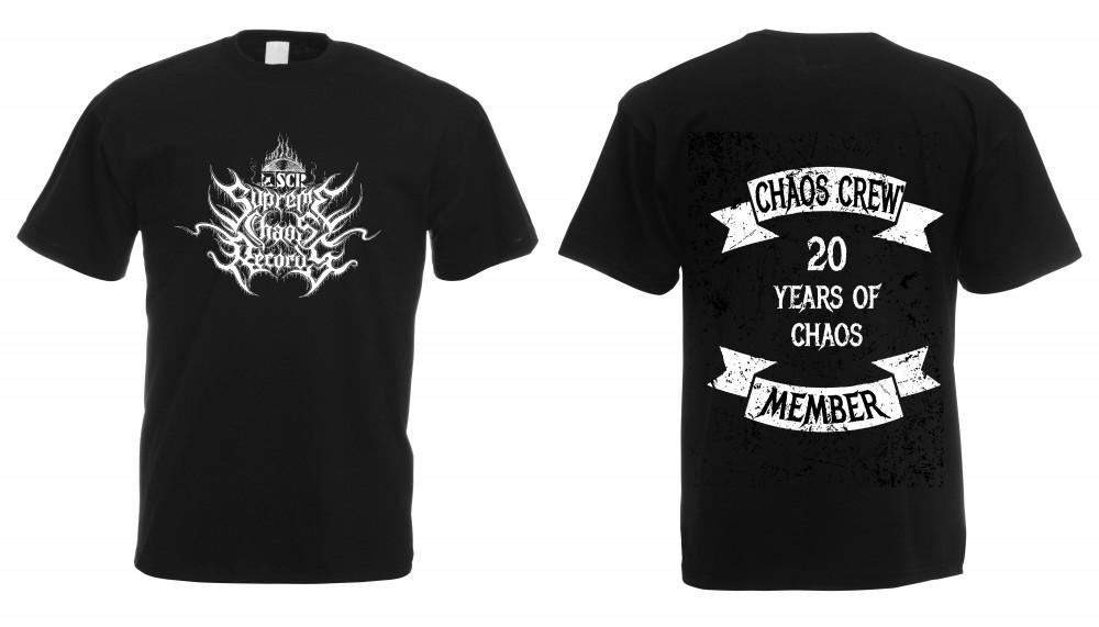SUPREME CHAOS RECORDS - 20 Years Of Chaos Bands Shirt (TS-XL)