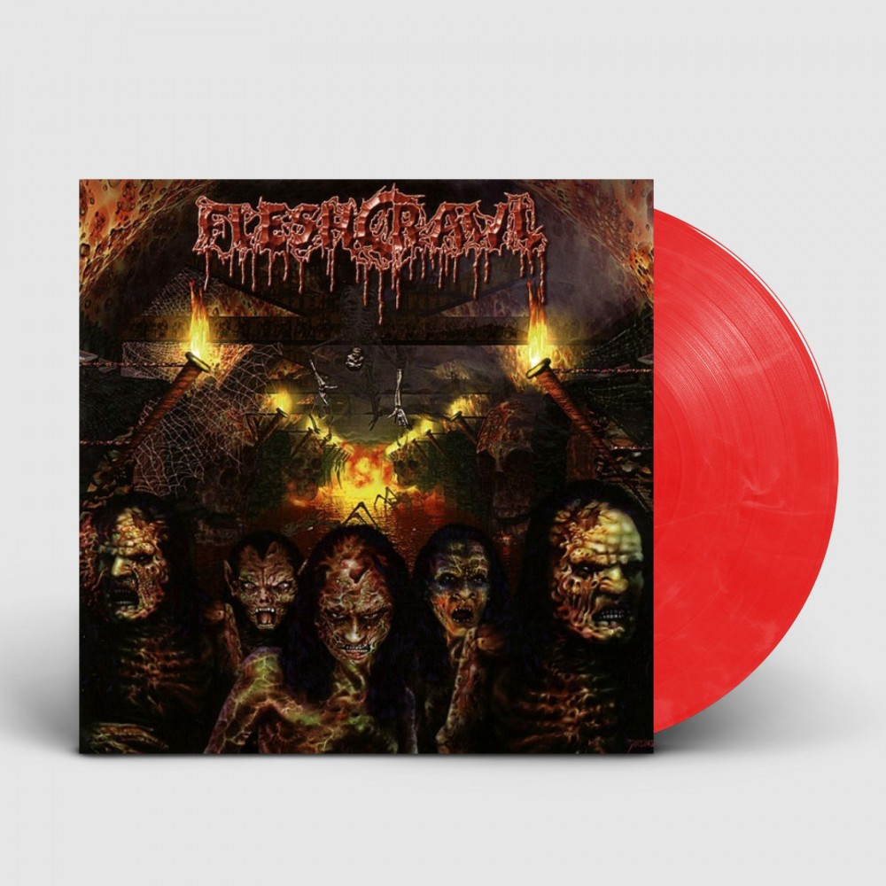 FLESHCRAWL - As Blood Rains From The Sky ... We Walk The Path Of Endless Fire [RED/WHITE] (LP)
