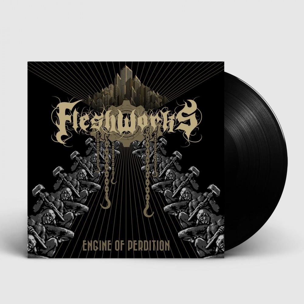 FLESHWORKS - Engine Of Perdition [BLACK] (LP)