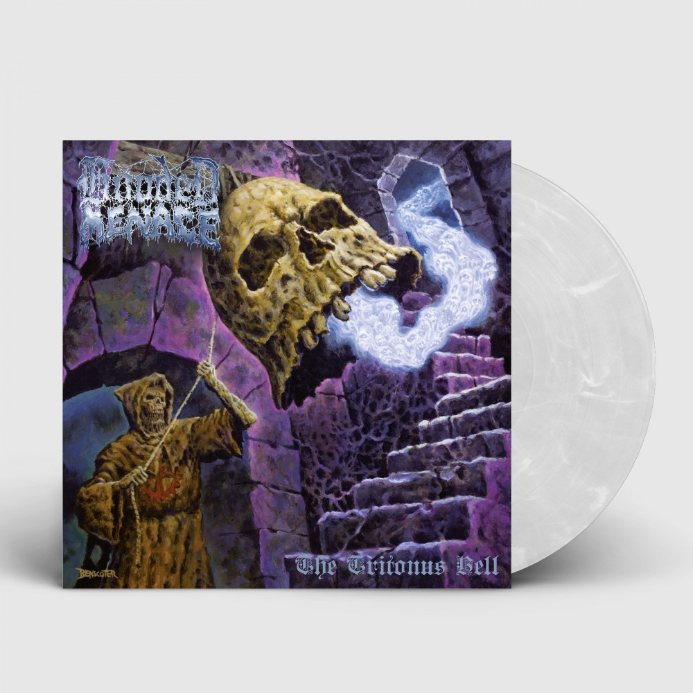 HOODED MENACE - The Tritonus Bell [CLEAR/WHITE] (LP)