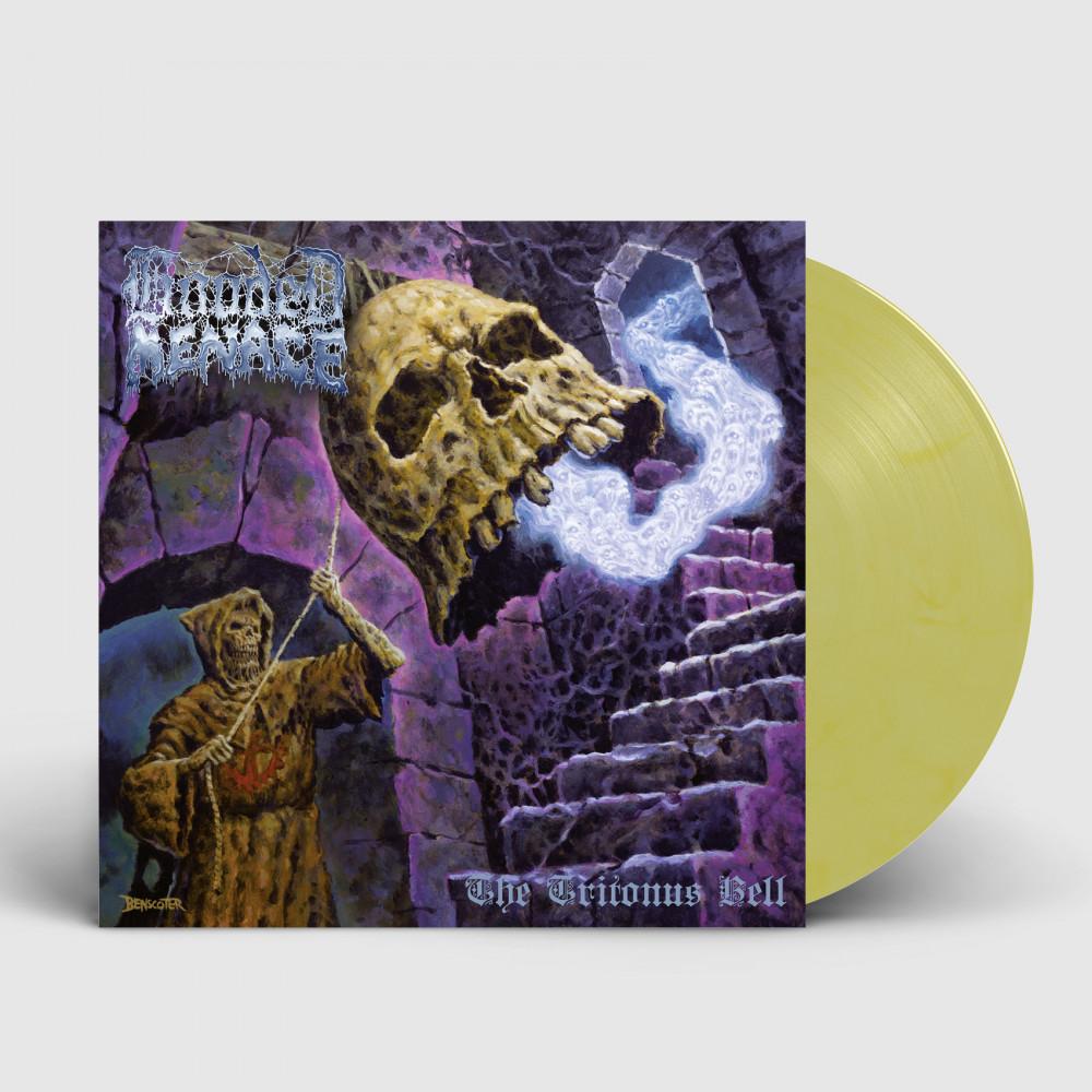 HOODED MENACE - The Tritonus Bell [YELLOW/WHITE] (LP)