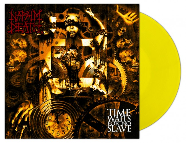 NAPALM DEATH - Time Waits For No Slave [YELLOW] (LP)