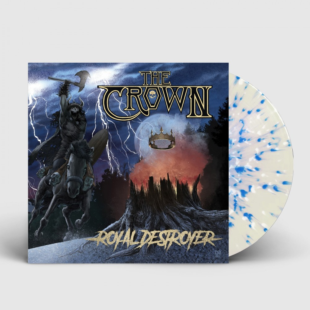 THE CROWN - Royal Destroyer [CLEAR/BLUE/WHITE] (LP)