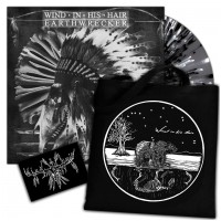 WIND IN HIS HAIR - Earthwrecker GREY SPLATTER + Patch + Tote Bag (BOXLP)