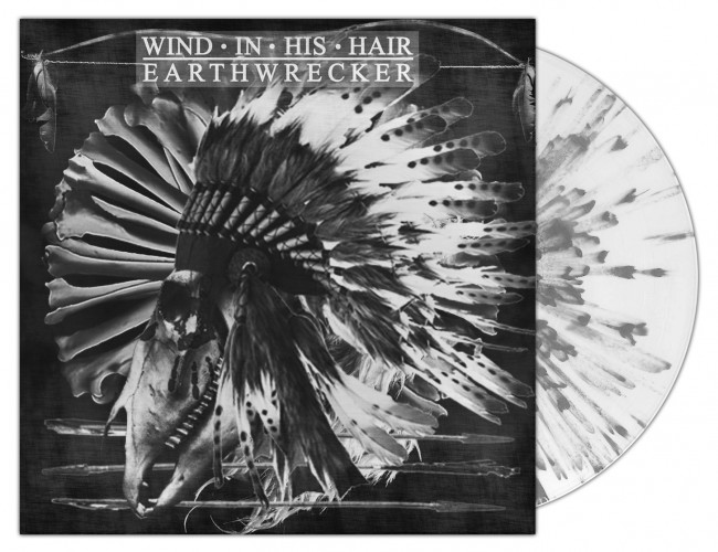 WIND IN HIS HAIR - Earthwrecker WHITE SPLATTER (LP)